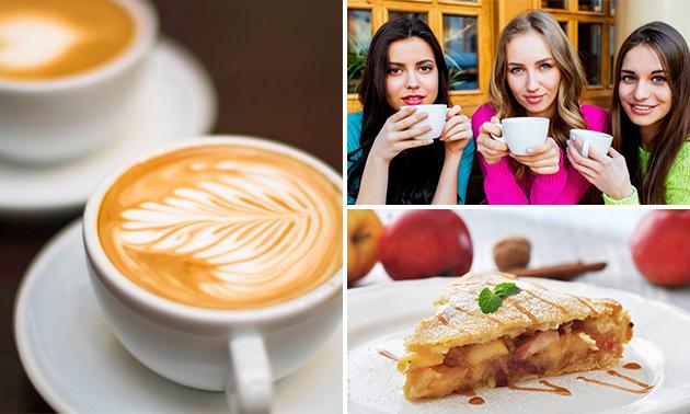Koffie of thee + appeltaart voor 2 personen