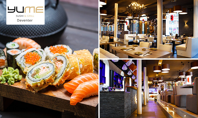 All-You-Can-Eat sushi en grill (2,5 uur) bij YuMe